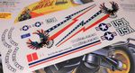 US American Bald Eagle theme vinyl stickers to fit Tamiya Lunch Box inc. Tyre Decals